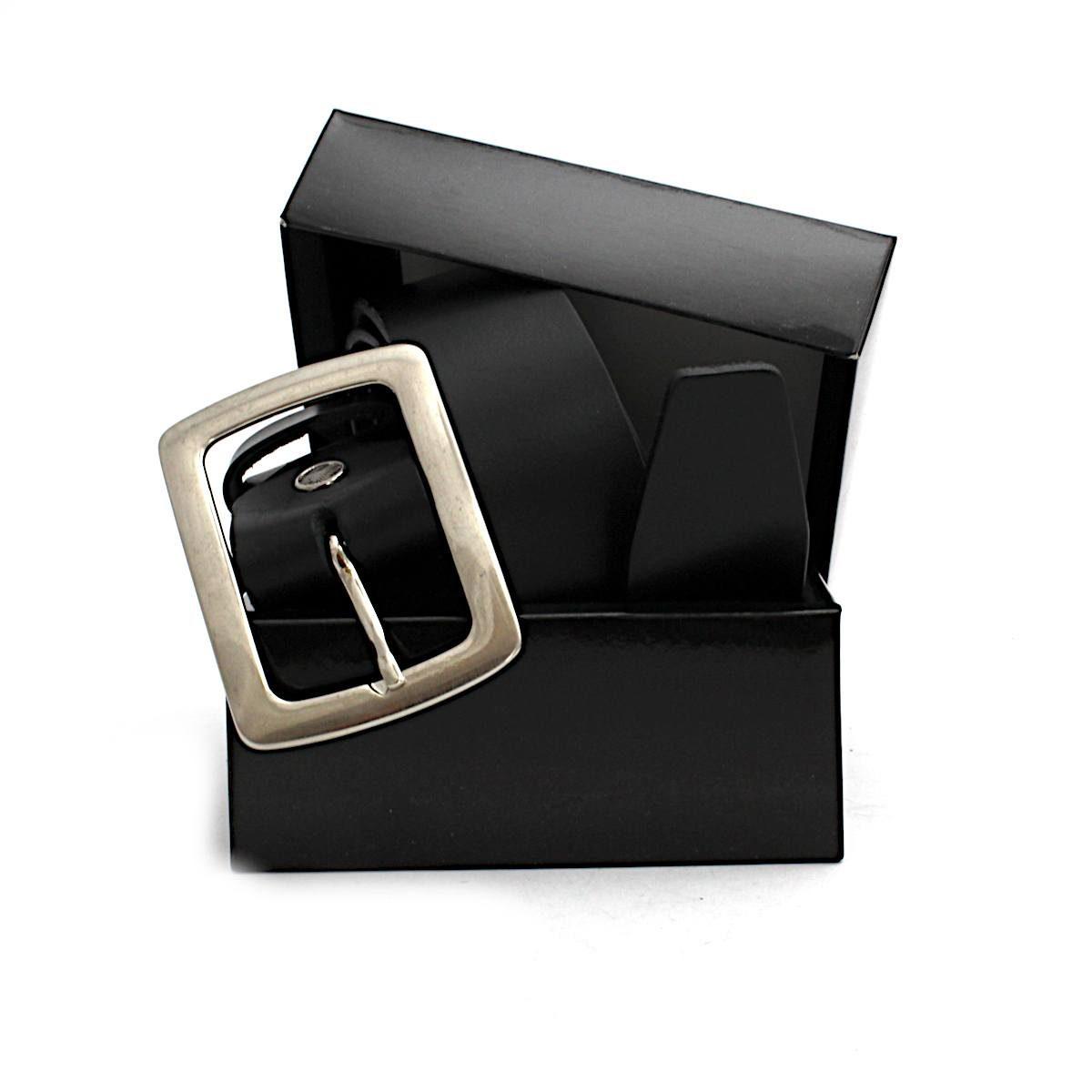 черен дамски колан естествена кожа правоъгълна тока кутия
