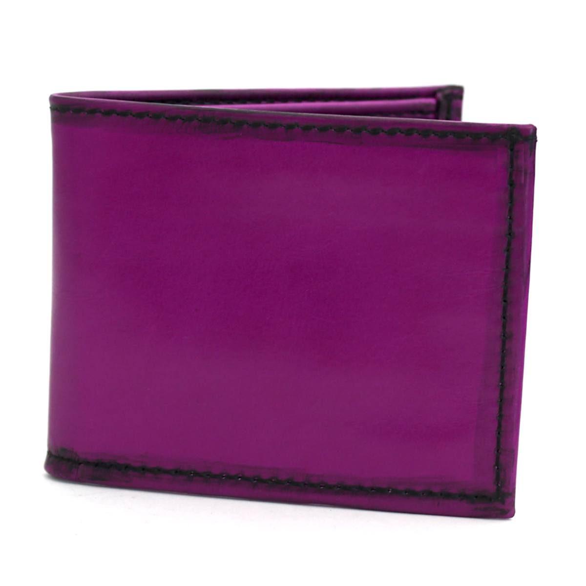 Мъжки кожен портфейл цвят лилав