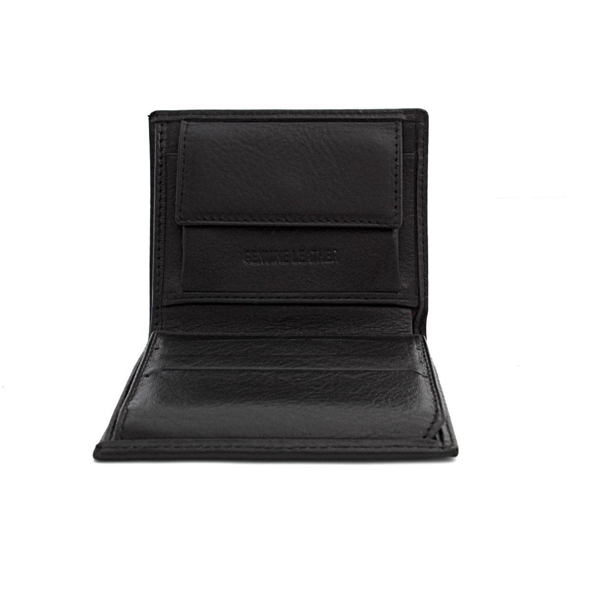 Кожен Портфейл Двойнопрегънат Черен АРТ# 6544