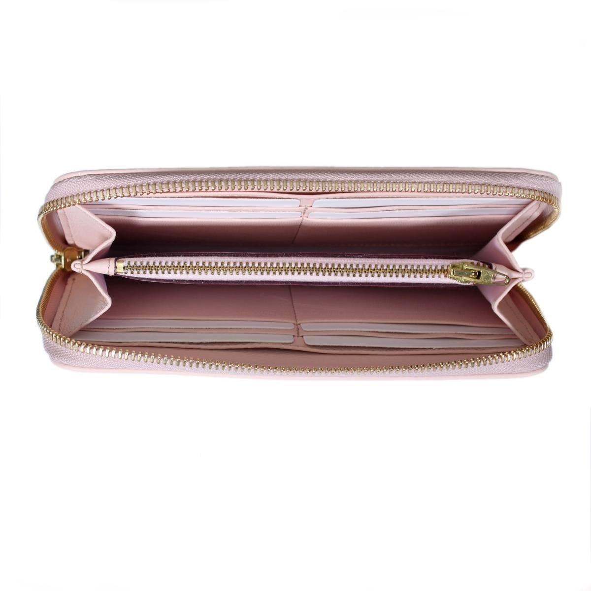 Дамско Портмоне Естествена Кожа Светло Розово АРТ# 1559