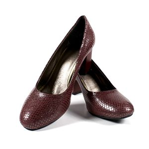 Елегантни Дамски Обувки Естествена Кожа Бордо