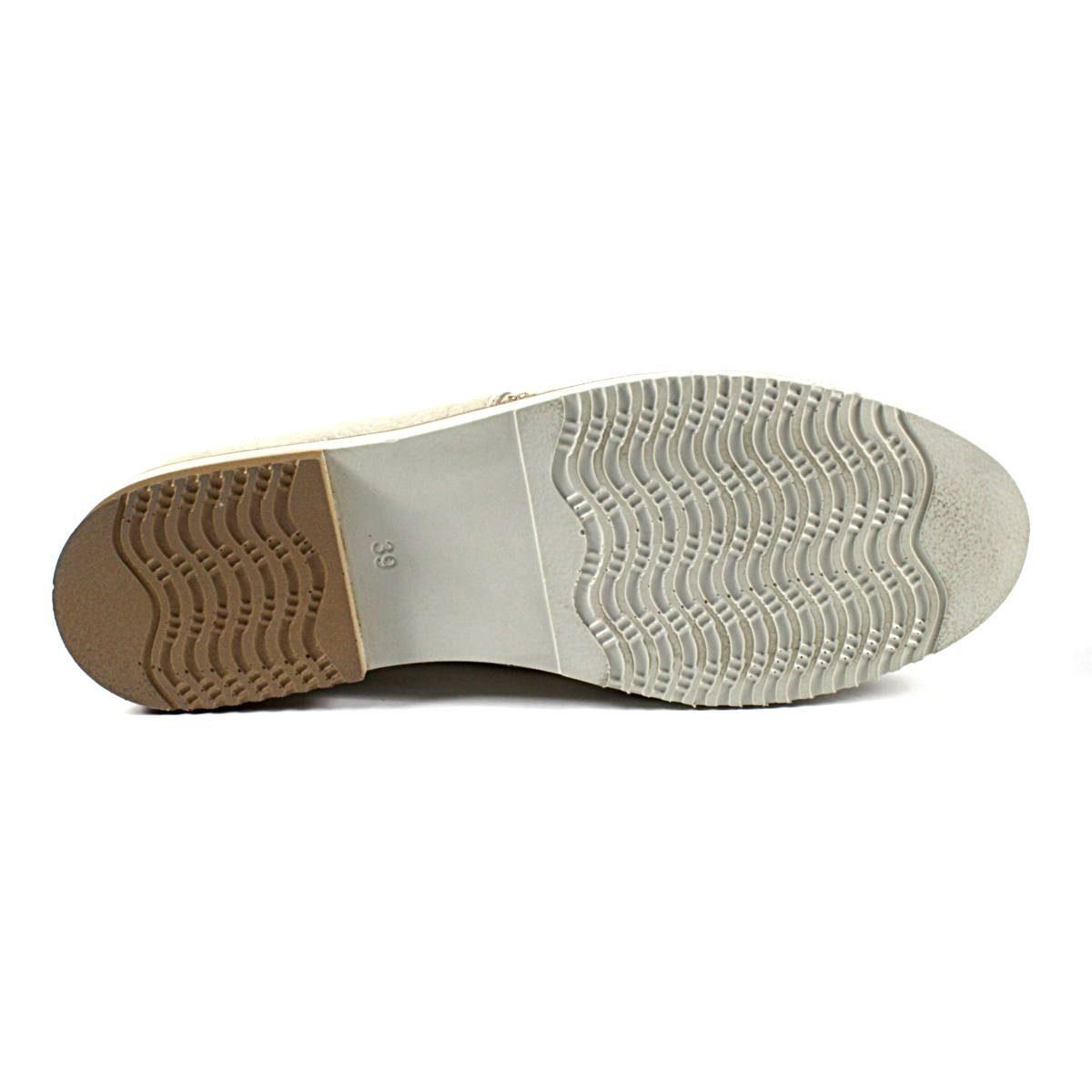 Дамски Обувки Естествена Кожа Със Златист Ефект Ходило