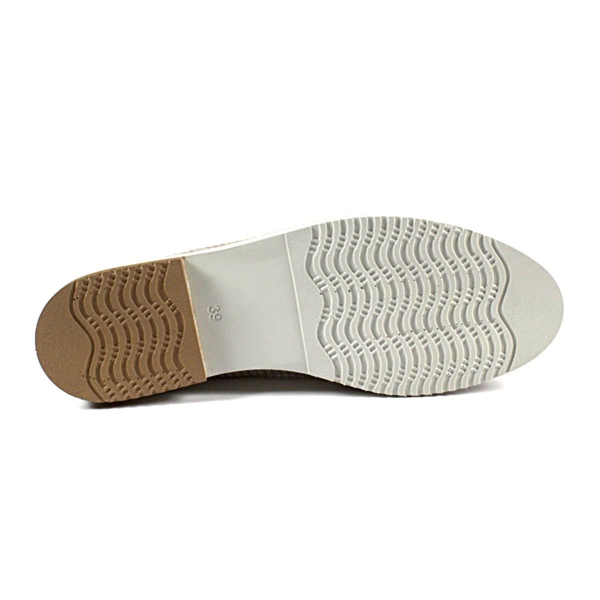 Златисти Дамски Обувки Естествена Кожа с Щампа Ходило