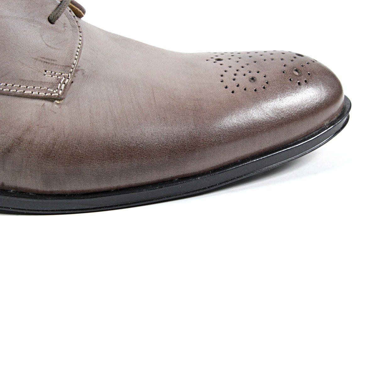 Мъжки Обувки Естествена Кожа Кафеви Отблизо