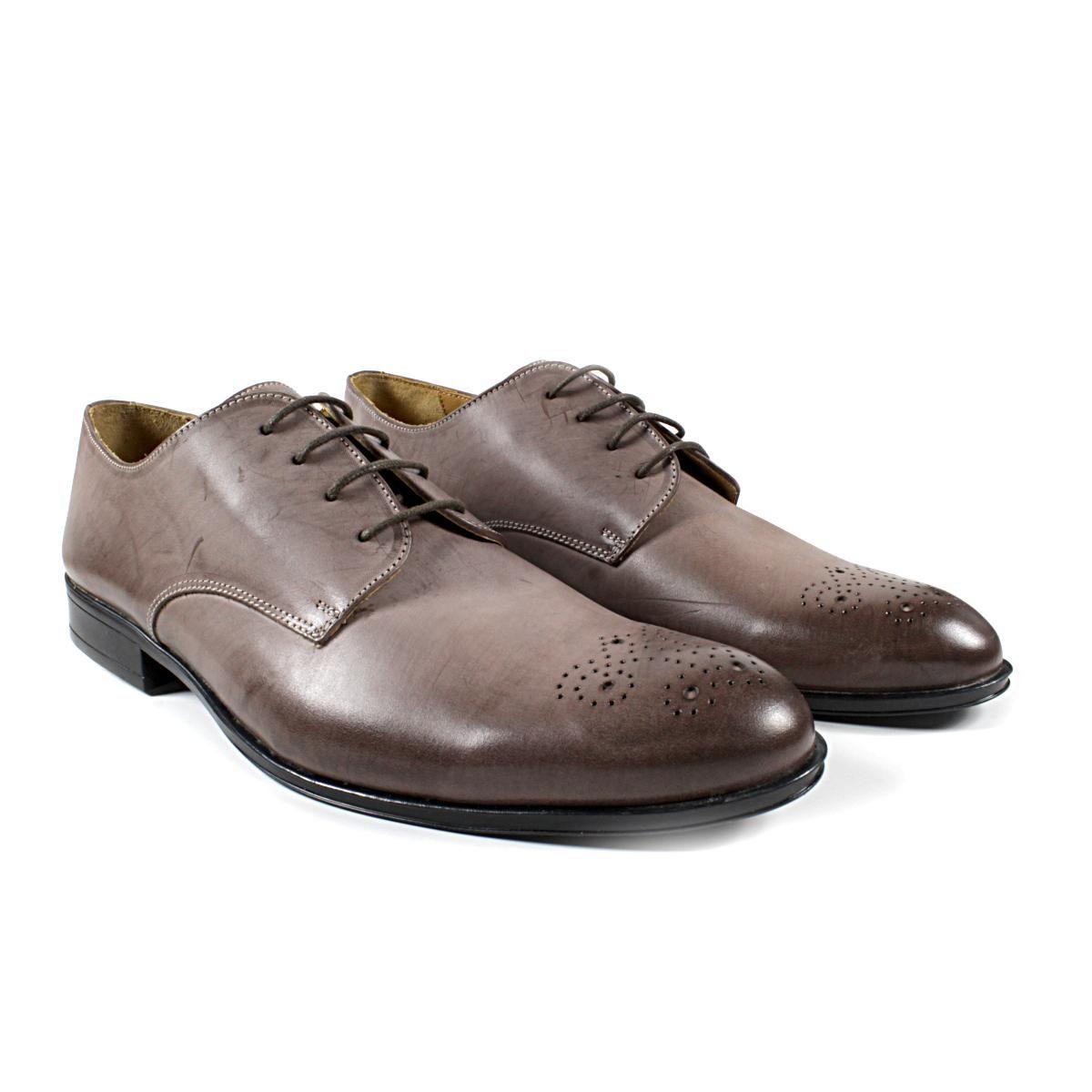 Мъжки Обувки Естествена Кожа Кафеви Двете