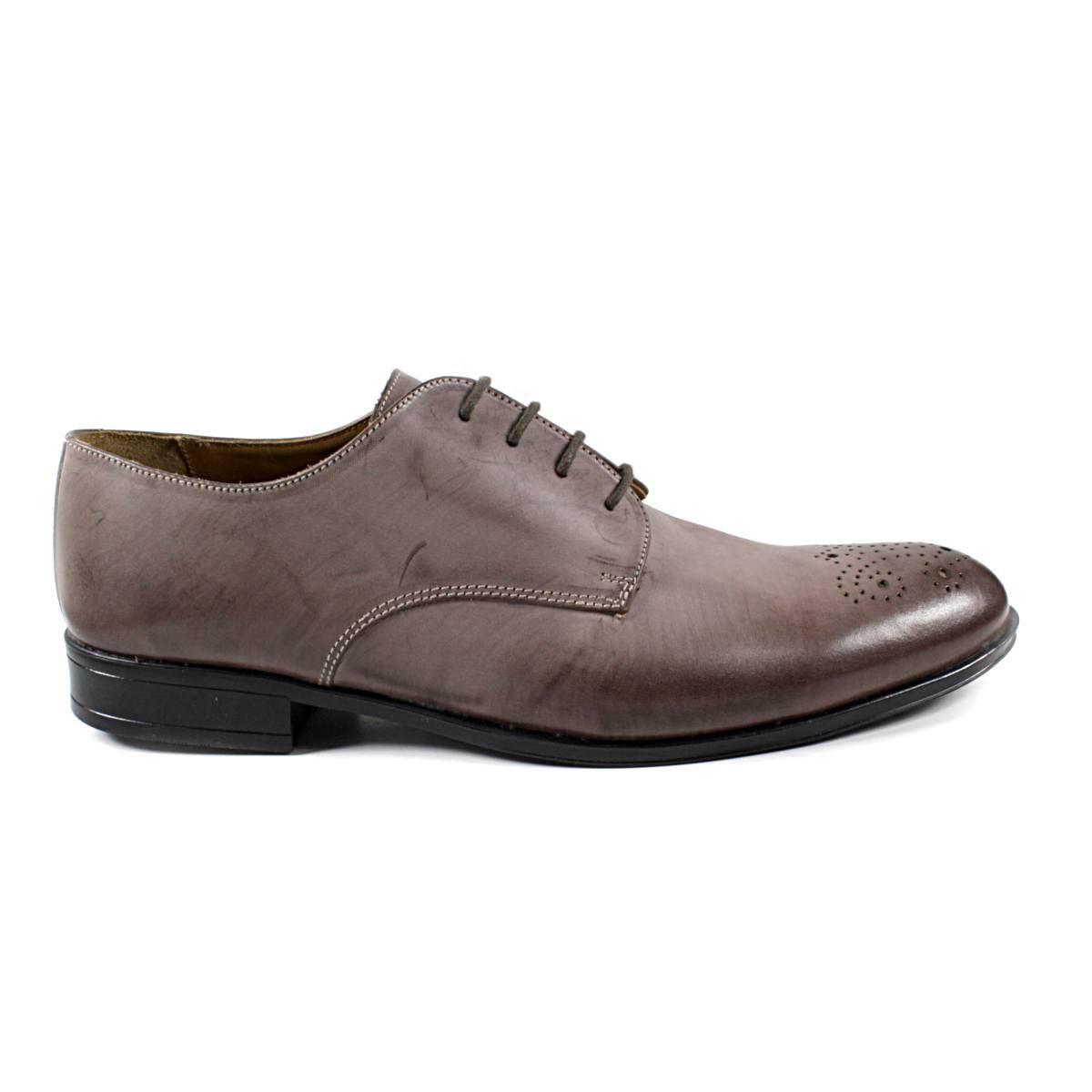 Мъжки Обувки Естествена Кожа Кафеви Едната
