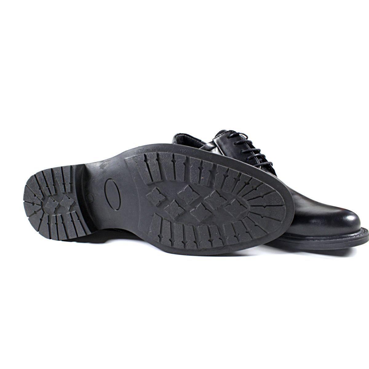 Черни Мъжки Кожени Обувки от Естествена Кожа Ходило