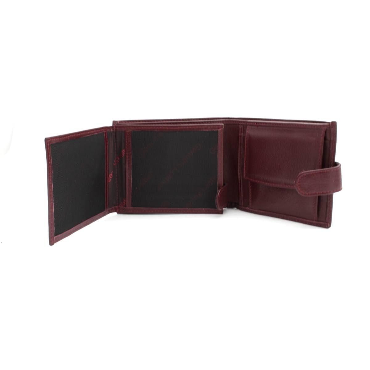 мъжки портфейл естествена кожа бордо документи