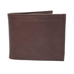 Ръчно изработен кафяв кожен мъжки портфейл