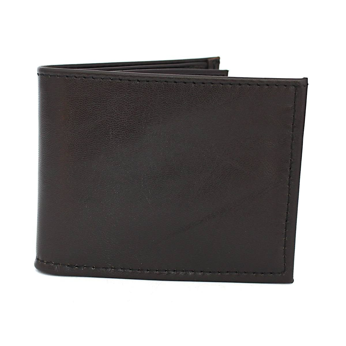 Ръчно изработен тъмнокафяв мъжки кожен портфейл