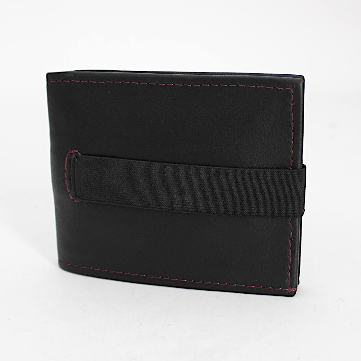 ръчно изработен черен мъжки портфейл-картодържач