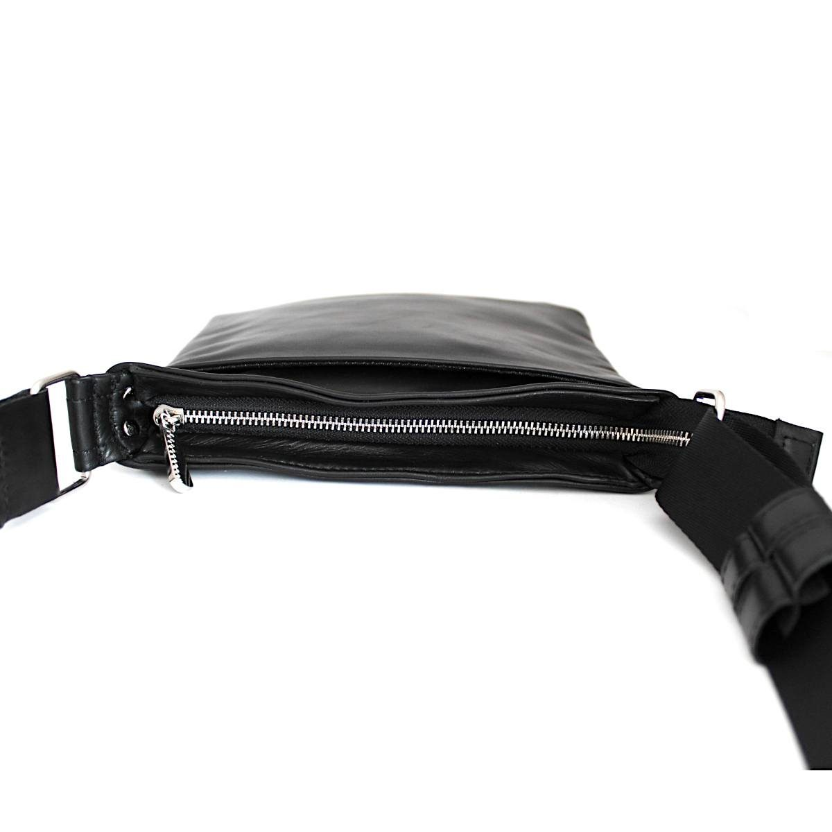 Тънка мъжка чанта от естествена кожа централно отделение