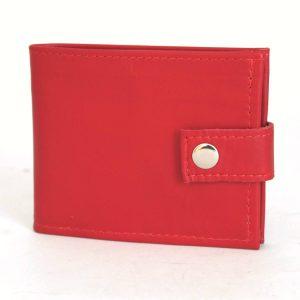 червен мъжки портфейл естествена кожа