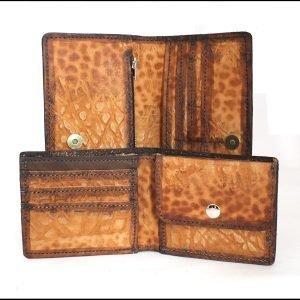 Комплект мъжки портфейл и дамско портмоне от естествена кожа