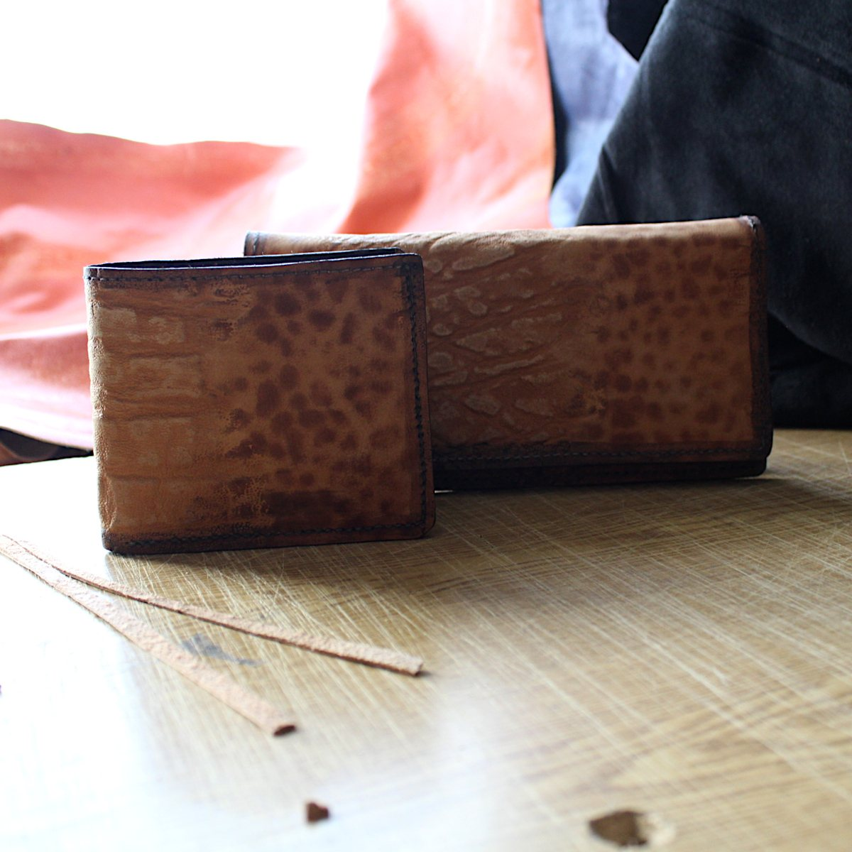 комплект мъжки портфейл дамско портмоне фон