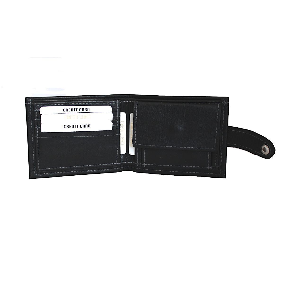 Кожен мъжки портфейл ръчно изработен 1966 отворен