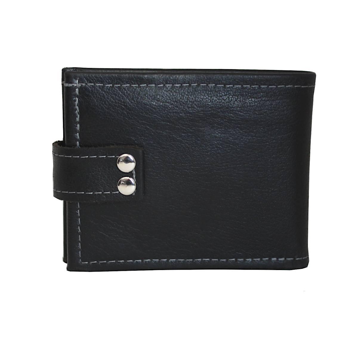 Кожен мъжки портфейл ръчно изработен 1966 отзад