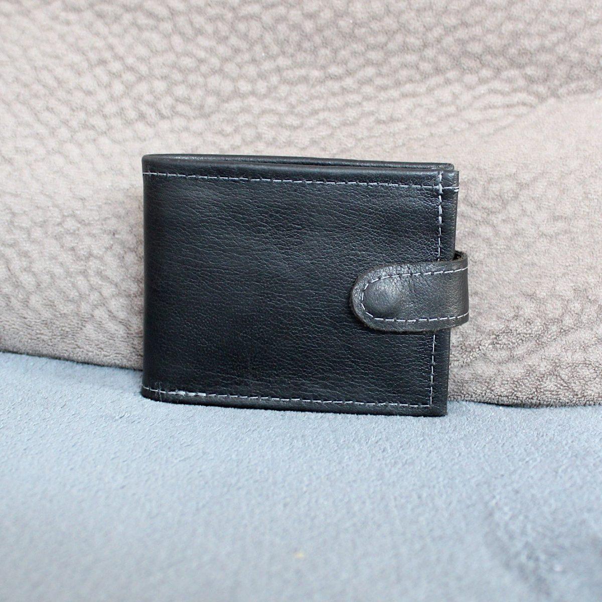 Кожен мъжки портфейл ръчно изработен 1966 отпред