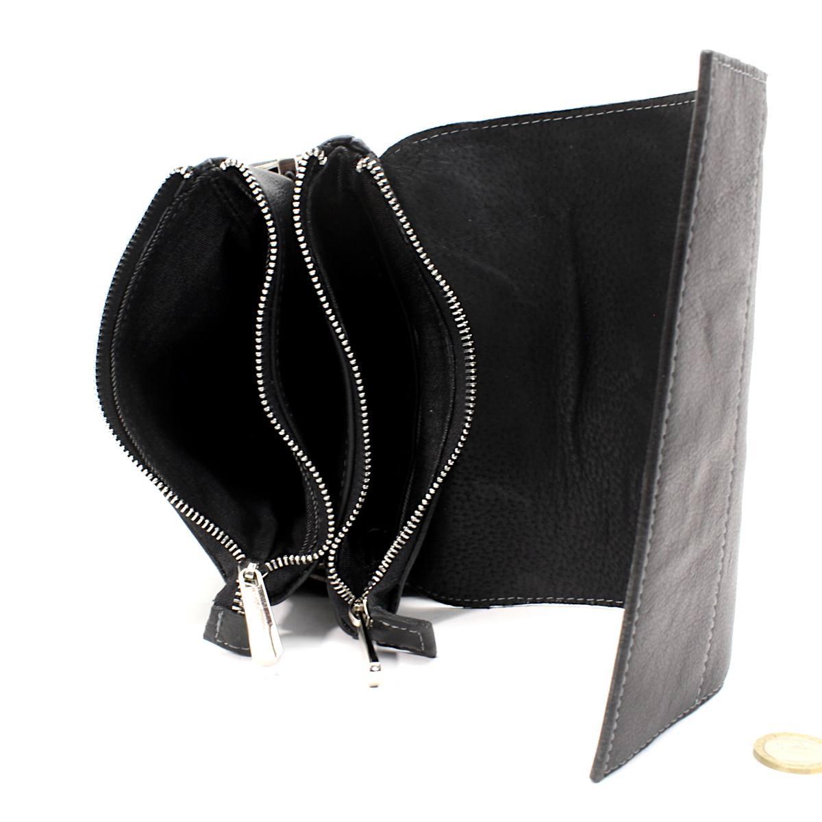 Черна мъжка чанта през рамо естествена кожа 8799 отвътре