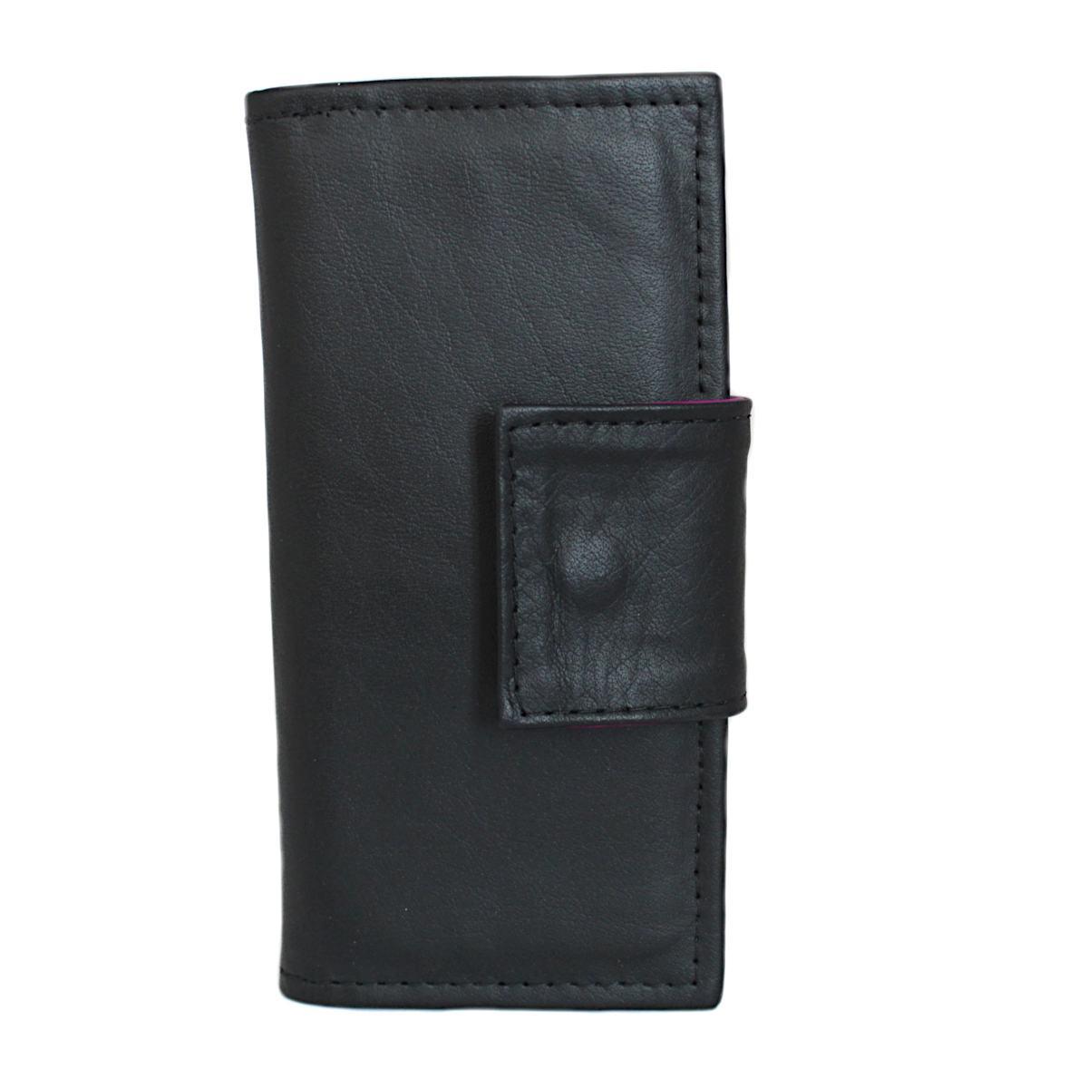 ръчно изработено черно дамско портмоне право