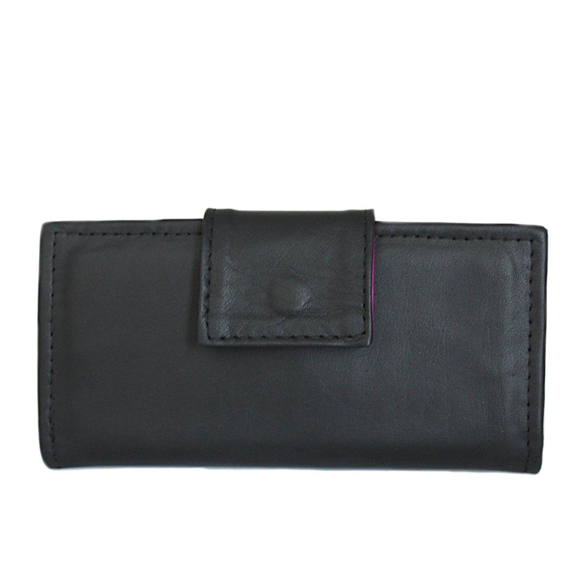 ръчно изработено черно дамско портмоне