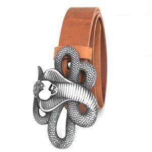 колан естествена кожа катарама кобра 1394