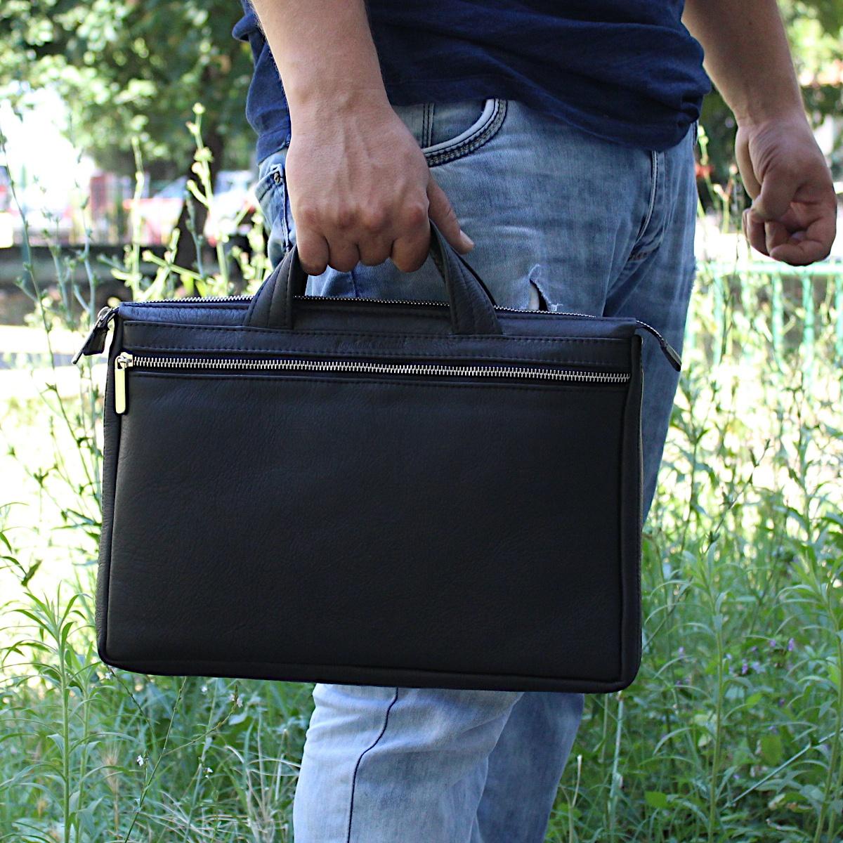 ръчно изработена черна мъжка бизнес чанта от естествена кожа цветна