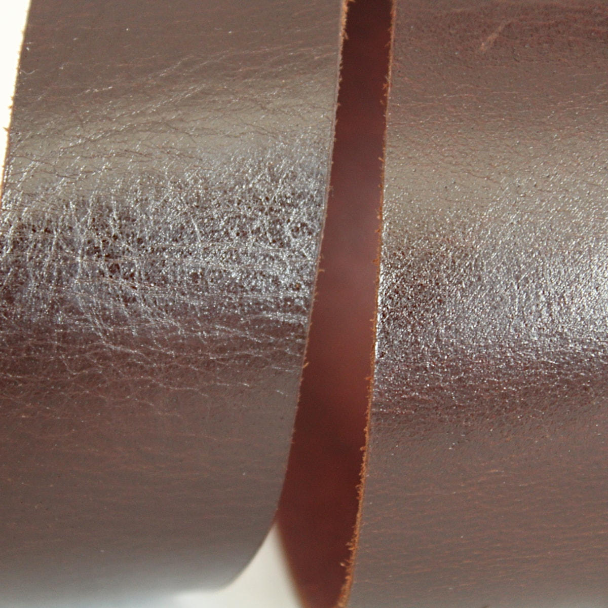 тъмнокафяв колан естествена кожа 7299 отблизо