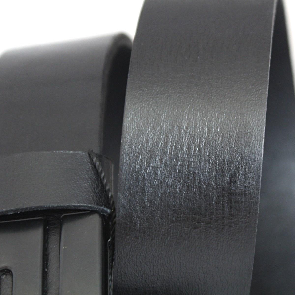Класически черен колан естествена кожа 9345 отблизо