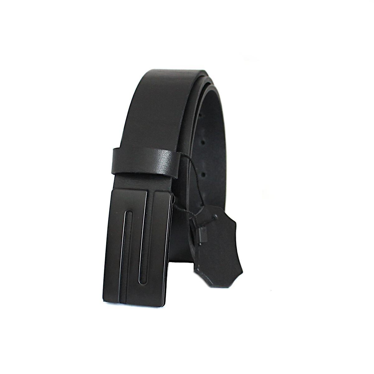 Класически черен колан естествена кожа 9345 отпред