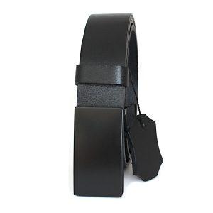 официален черен мъжки колан от естествена кожа 5333