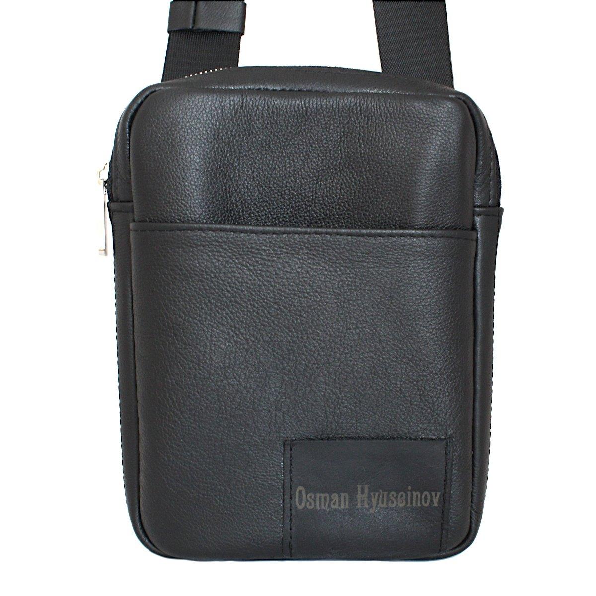 спортно-елегантна чанта за през рамо естествена кожа 3601 гравирана с инициали