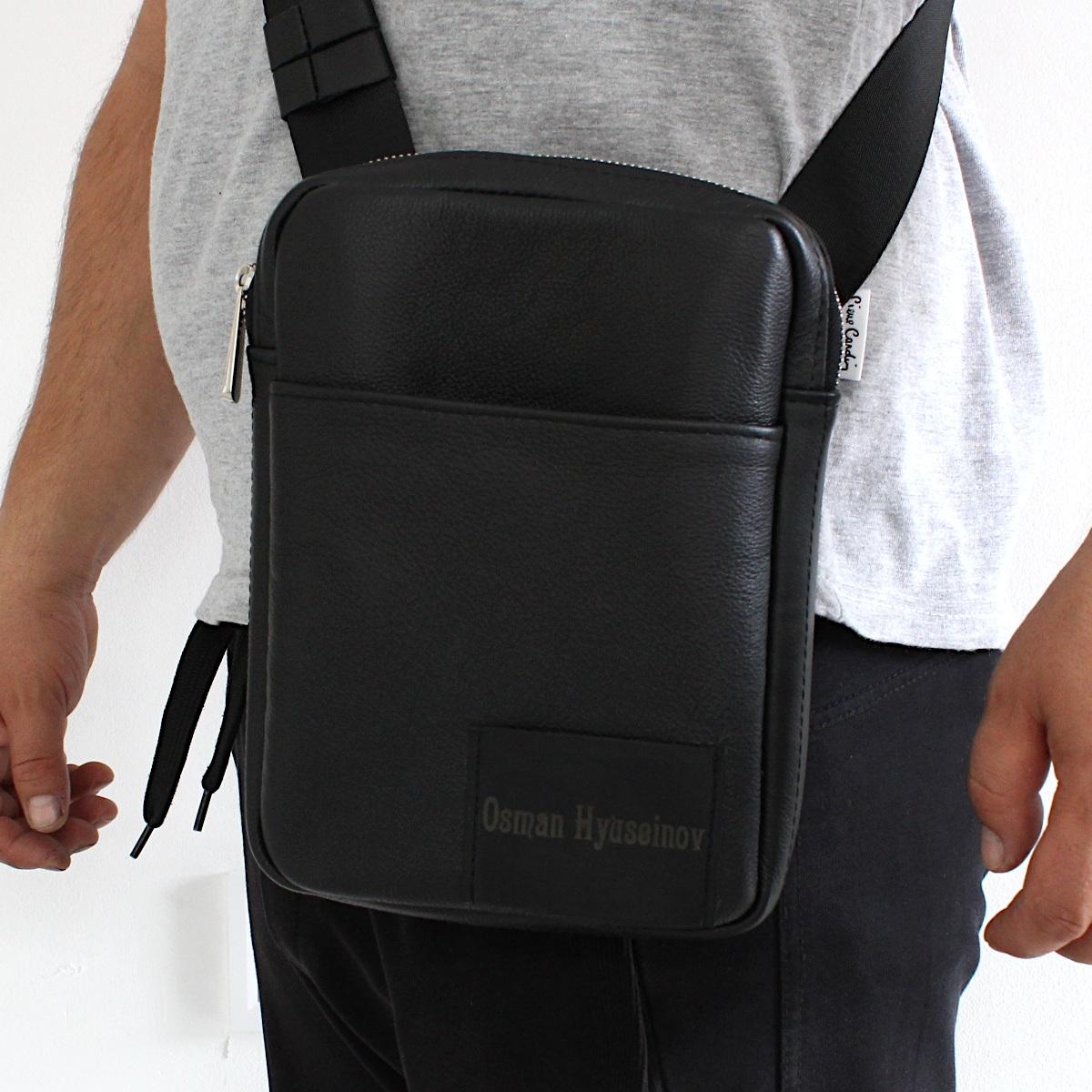 спортно-елегантна чанта за през рамо естествена кожа 3601 на рамо