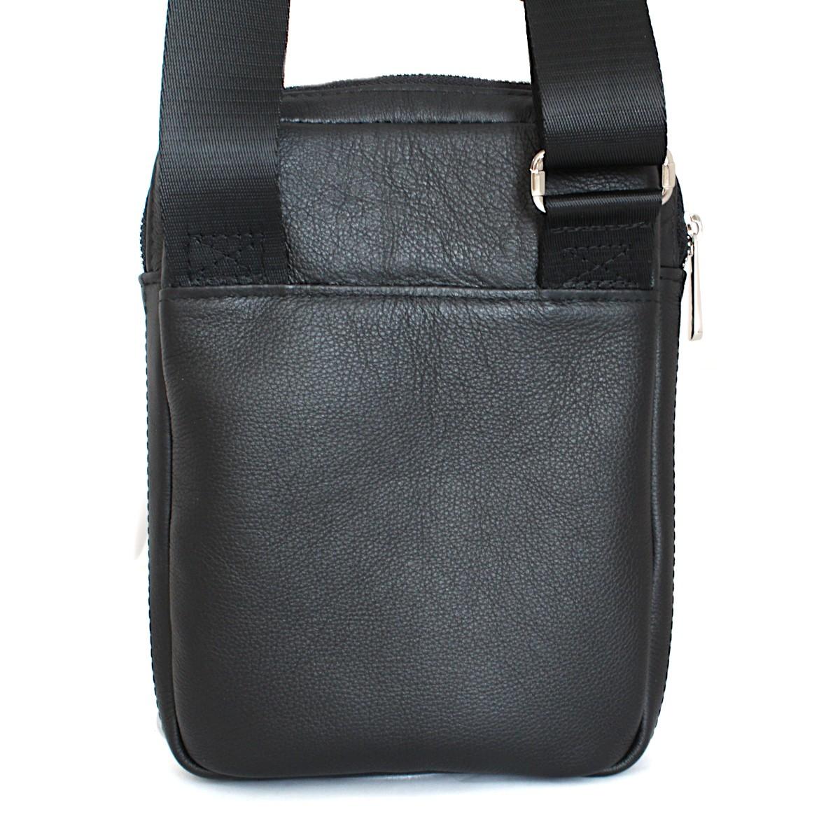 спортно-елегантна чанта за през рамо естествена кожа 3601 отзад