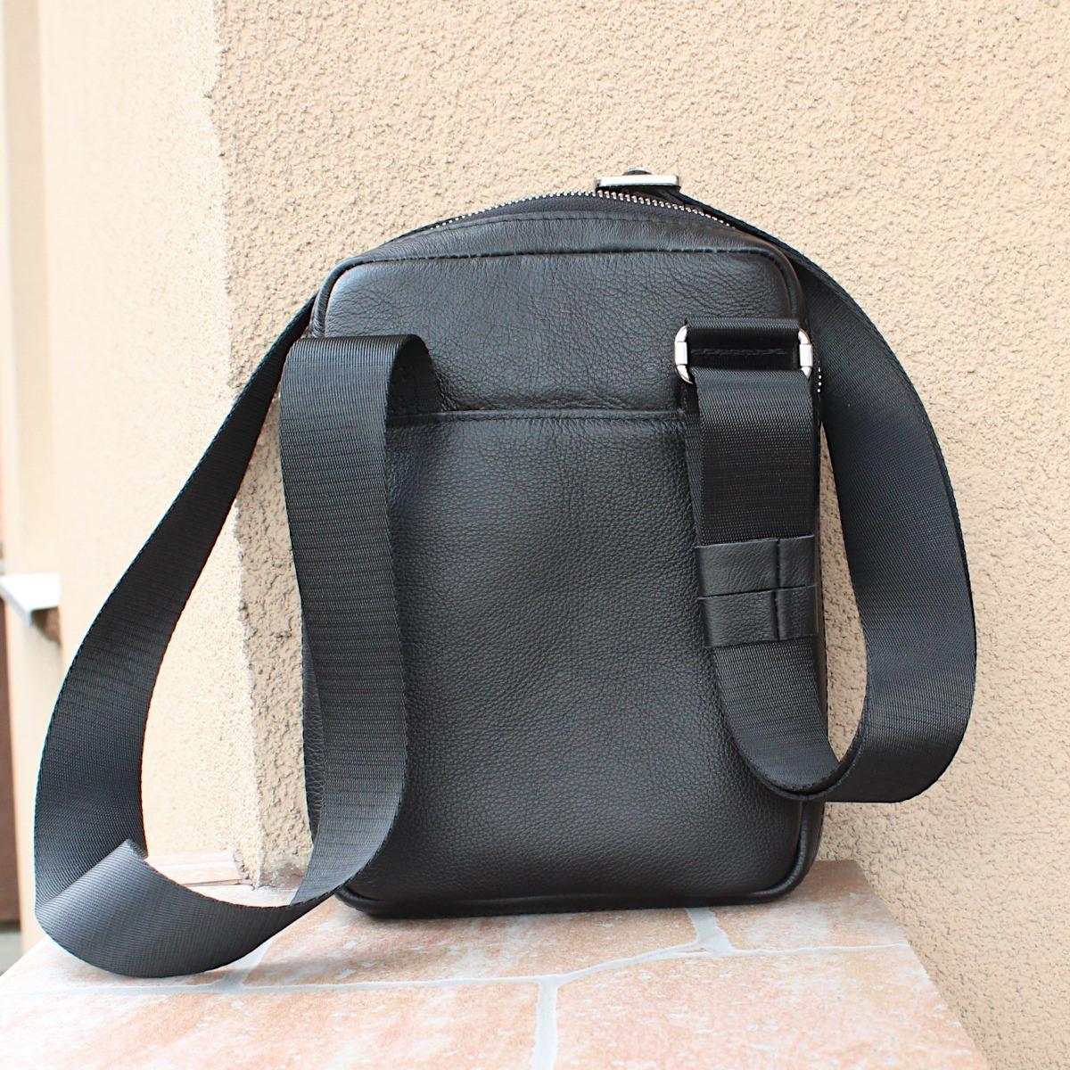 спортно-елегантна чанта за през рамо естествена кожа 3601 отзад цветна