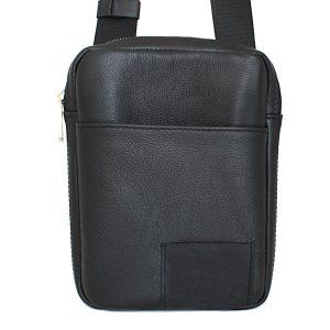 спортно-елегантна чанта за през рамо естествена кожа 3601