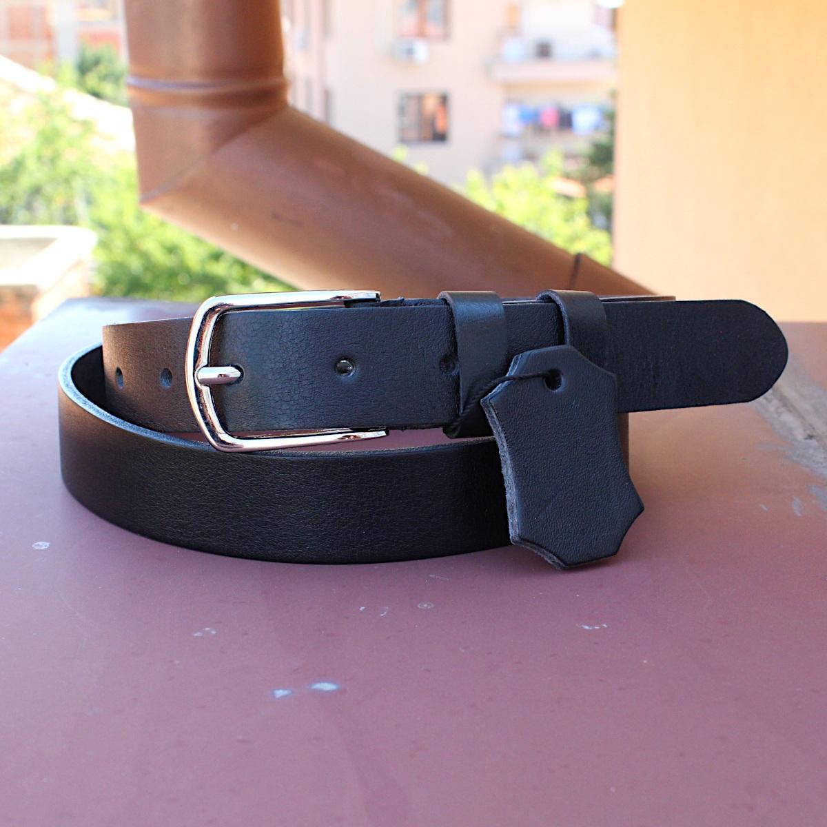 стилен черен дамски колан естествена кожа 8266 цветна