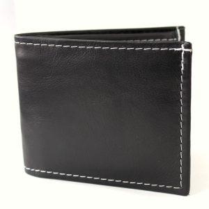 Черен мъжки портфейл естествена кожа 9764