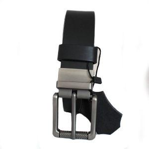 изискан черен мъжки колан естествена кожа 4469