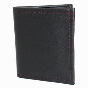 малък мъжки портфейл естествена кожа черен 3966