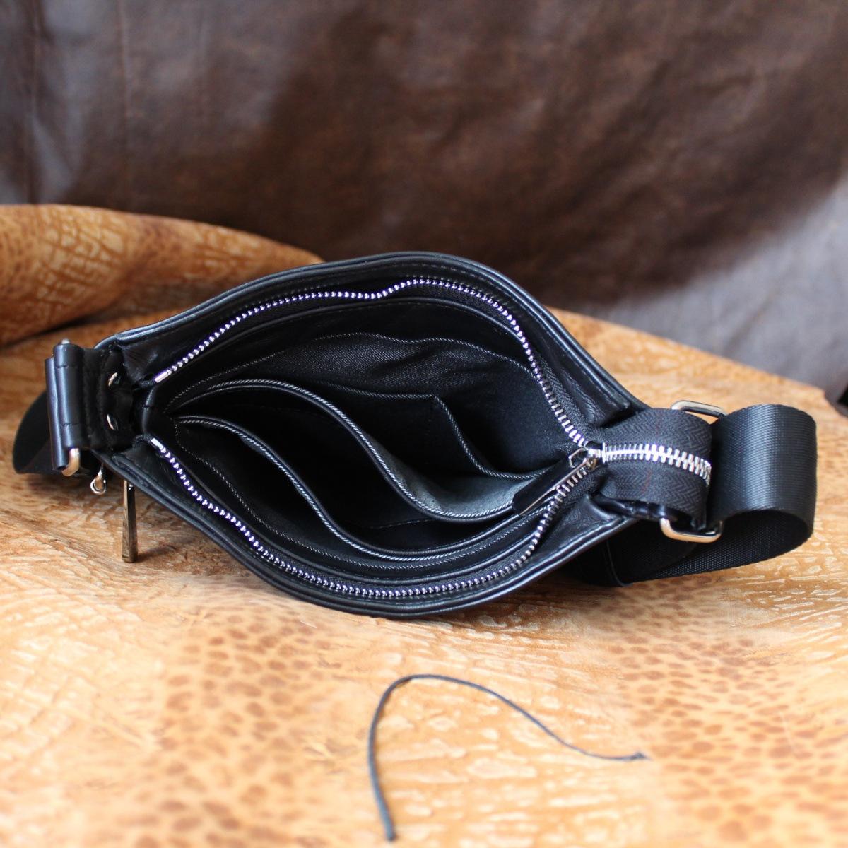 стилна мъжка чанта естествена кожа вътре