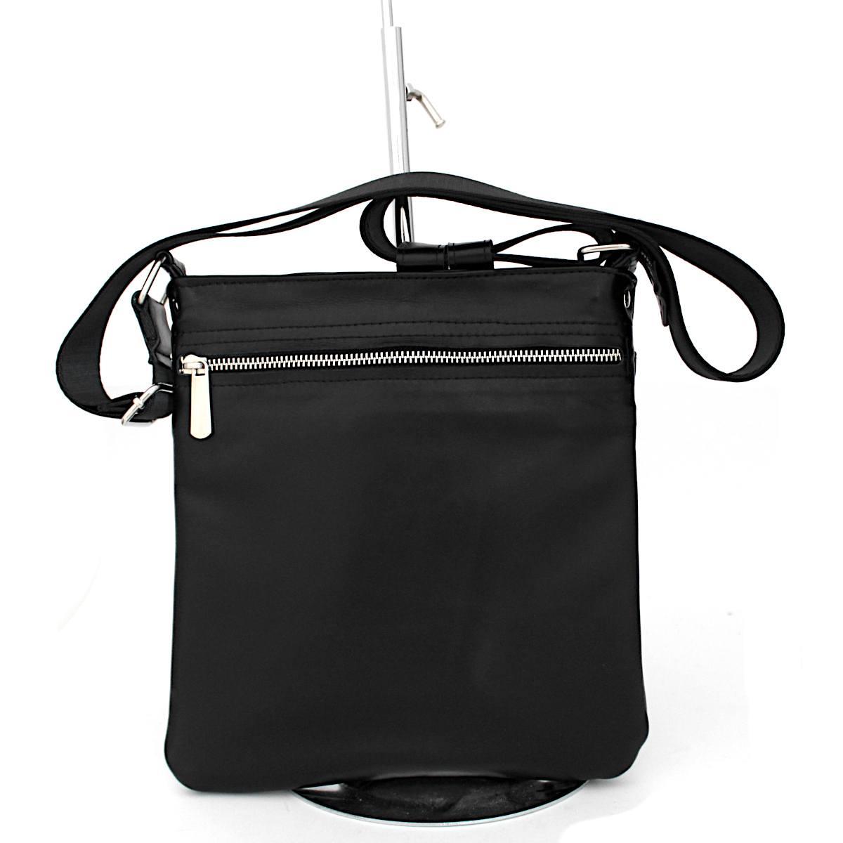 стилна мъжка чанта естествена кожа отзад