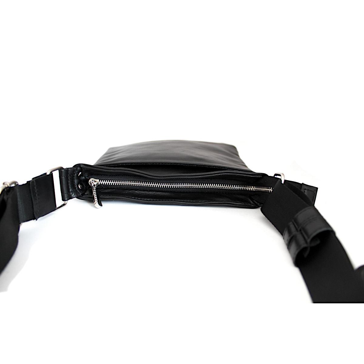 стилна мъжка чанта естествена кожа централно отделение