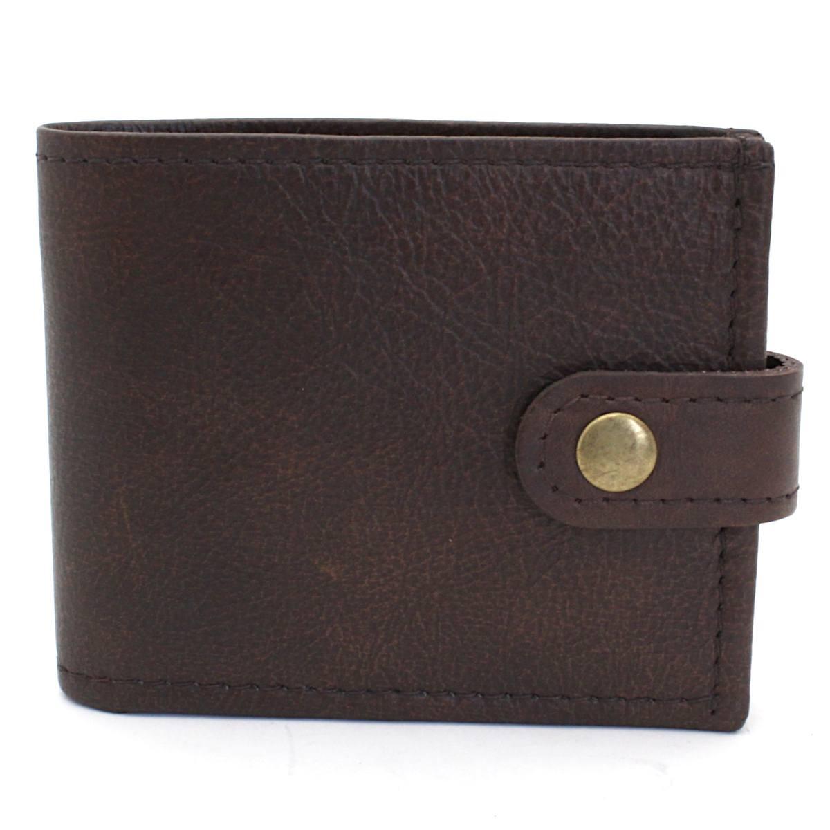 естествена кожа мъжки портфейл кафяв
