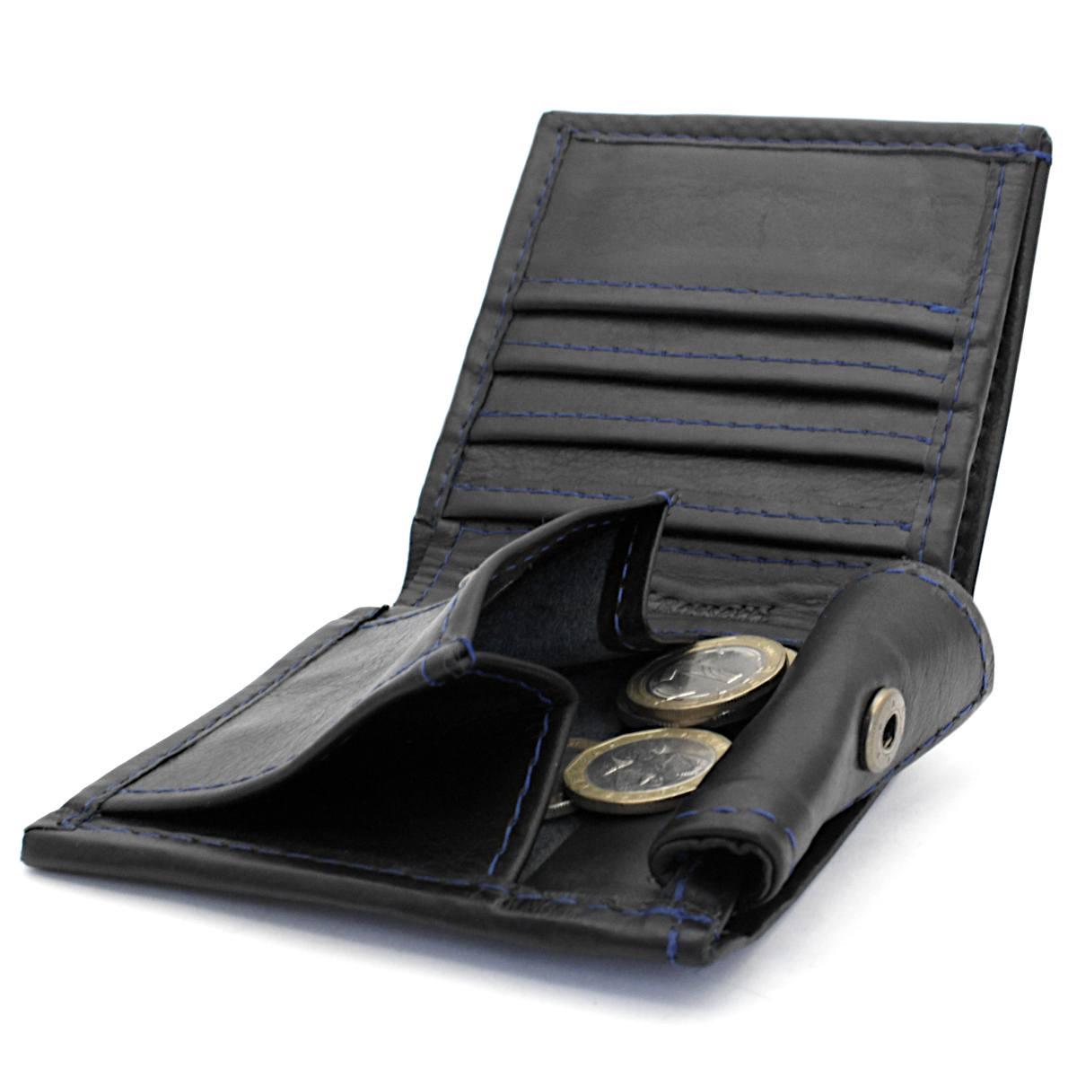 естестена кожа мъжки портфейл син конец - монетник