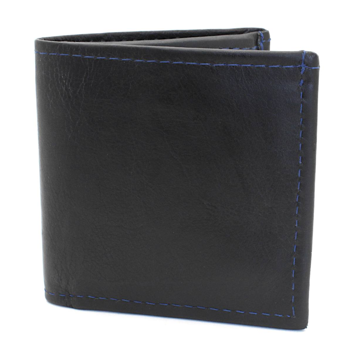 естестена кожа мъжки портфейл син конец