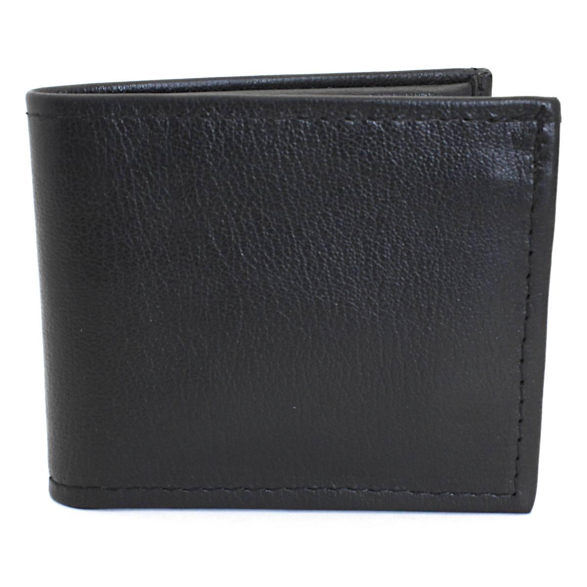 кожен портфейл ръчна изработка черен/оранжев