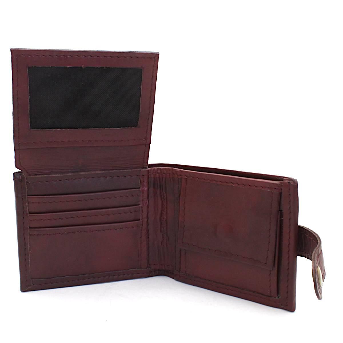 кожен портфейл - срахотен гравиран подарък - вътре