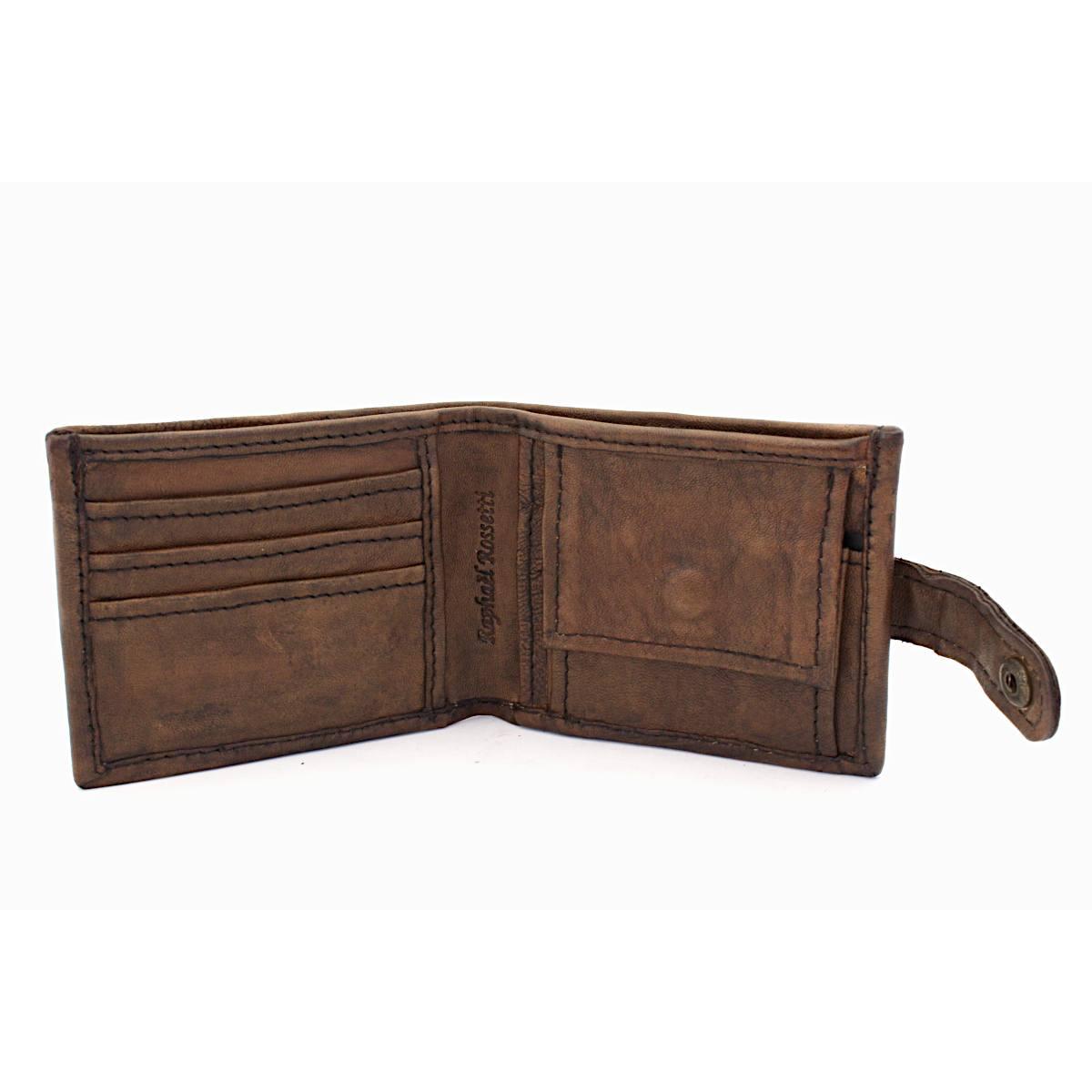 модерен мъжки кожен портфейл - вътре
