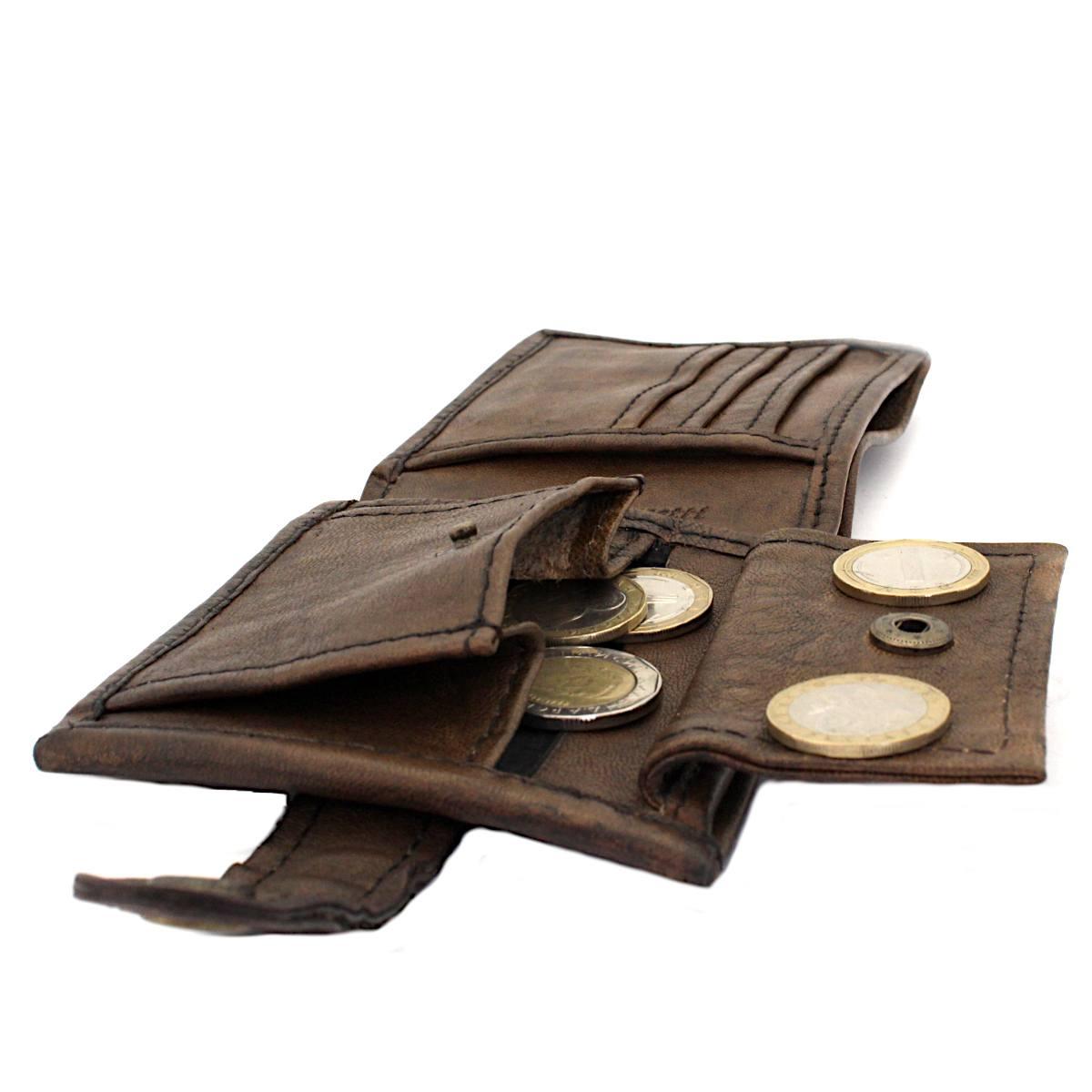 модерен мъжки кожен портфейл - монетник